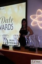 Award Model Andrea O'Campo at the 2010 Miami iDate Awards Ceremony