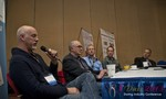 Steve Carter (VP of eHarmony) at the Dating Disruption Methods Panel at the 10th Annual iDate Super Conference